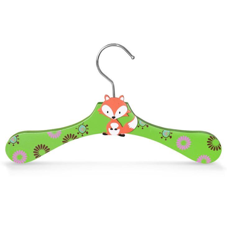 Dřevěné ramínko pro děti na oděvy s motivem liška (30338) - Zařízení