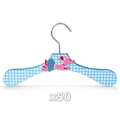 Dřevěné ramínko pro děti na oděvy pes 50 ks 30352