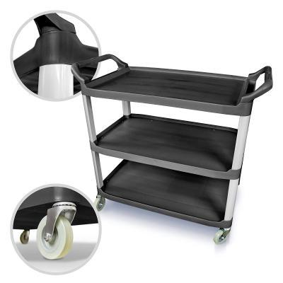 Servírovací vozík 3 patrový černý (39688)