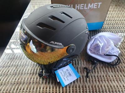 Alpina Jump 2.0. HM bílá lyžařská helma, velikost 55-58