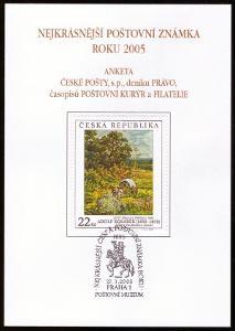 POF. AČP 12 - SUVENÝR NEJKRÁSNĚJŠÍ ZNÁMKA ROKU 2005 (S2517)