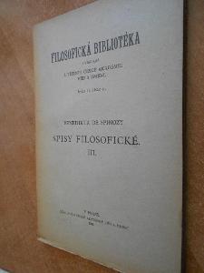 Spinoza B. - Spisy filosofické III. - 1939