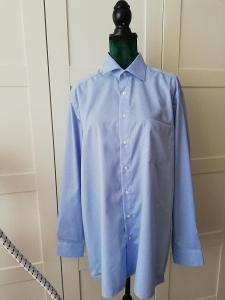 ROYAL CLASS-Pánská modrá společenská košile, XL/44