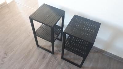 Černé/přírodní noční/odkládací stolky