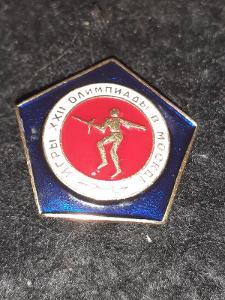 Odznak LOH MOSKVA 1980 - ŠERM