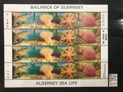 GB, Guernsey, Alderney, Mi. 61/4 Block