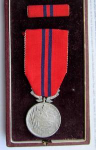 ČSR Medaile za zásluhy o výstavbu , číslo 1362 v etui