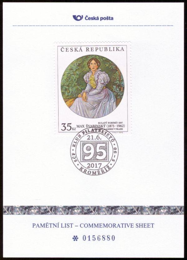 POF. PLZ 74 - PAMĚTNÍ LIST ČESKÉ POŠTY - 95 LET KF KROMĚŘÍŽ (S2544) - Filatelie