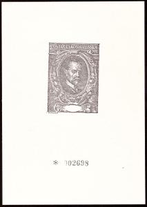 ČÍSLOVANÝ TISK T. G. MASARYK, DŘÍVE OZNAČENÝ JAKO ZVL 24 (S2572)
