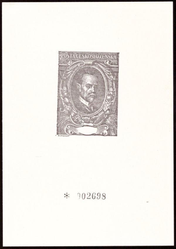 ČÍSLOVANÝ TISK T. G. MASARYK, DŘÍVE OZNAČENÝ JAKO ZVL 24 (S2572) - Filatelie