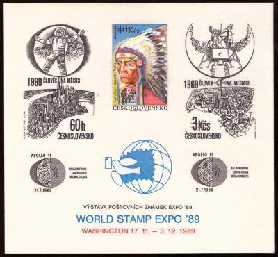 POF. PT 22 - BAREVNÝ TISK INDIÁN, WASHINGTON 1989 (S2579)