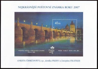 POF. AČP 14 - ANKETA NEJKRÁSNĚJŠÍ ZNÁMKA 2007 (S2603)