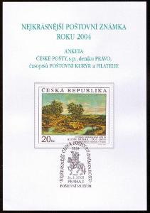 POF. AČP 11 - ANKETA NEJKRÁSNĚJŠÍ ZNÁMKA 2004 (S2606)