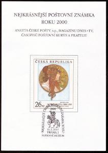 POF. AČP 7 - ANKETA NEJKRÁSNĚJŠÍ ZNÁMKA 2000 (S2610)