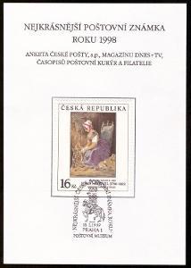 POF. AČP 5 - ANKETA NEJKRÁSNĚJŠÍ ZNÁMKA 1998 (S2611)