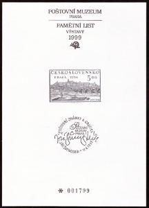 POF. PTM 13 - PŘÍLEŽ. TISK POŠTOVNÍHO MUZEA - J.ŠVENGSBÍR (S2628)