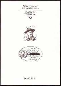 POF. PTM 18 - PŘÍLEŽ. TISK POŠTOVNÍHO MUZEA - SKAUTING (S2631)