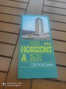 Hotel Horizont / Pec pod Sněžkou / starý reklamní leták