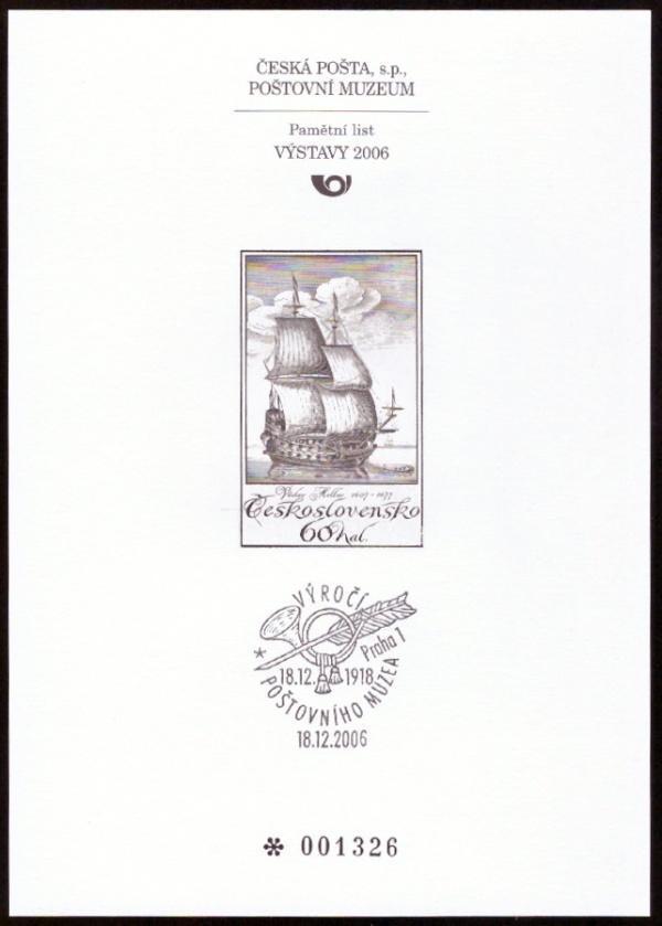POF. PTM 26 - PŘÍLEŽ. TISK POŠTOVNÍHO MUZEA - VÁCLAV HOLLAR (S2639) - Filatelie