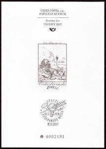 POF. PTM 27 - PŘÍLEŽ. TISK POŠTOVNÍHO MUZEA - VÁCLAV HOLLAR (S2640)
