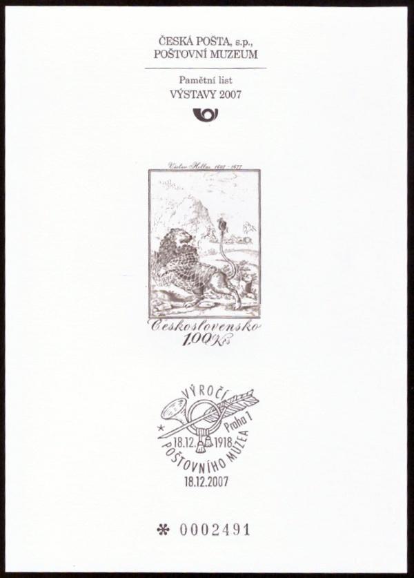 POF. PTM 27 - PŘÍLEŽ. TISK POŠTOVNÍHO MUZEA - VÁCLAV HOLLAR (S2640) - Filatelie