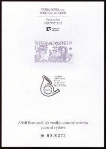 POF. PTM 40 - PŘÍLEŽ. TISK POŠTOVNÍHO MUZEA - ADOLF BORN (S2647)