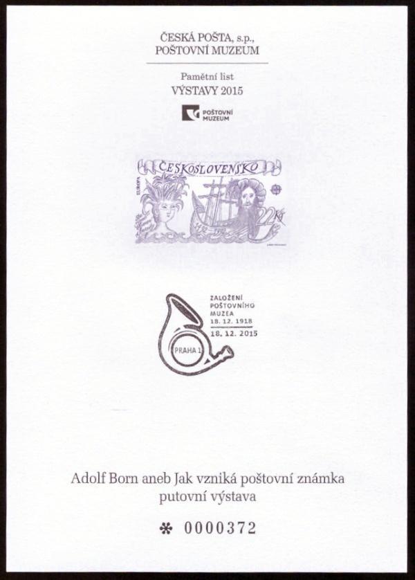 POF. PTM 40 - PŘÍLEŽ. TISK POŠTOVNÍHO MUZEA - ADOLF BORN (S2647) - Filatelie