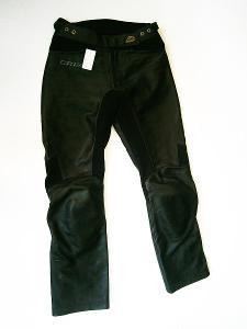 Kožené kalhoty dámské GRID- vel. M/38, pas: 78 cm