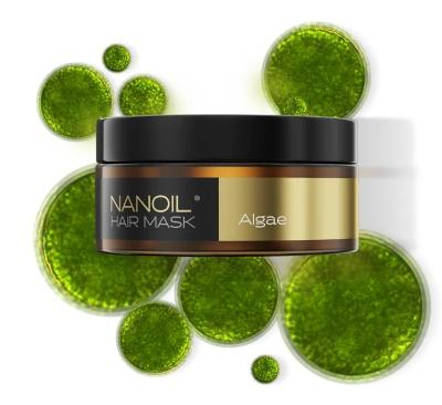 NANOIL ALGAE HAIR MASK - Vlasová maska, 300 ml, profesionální obnova