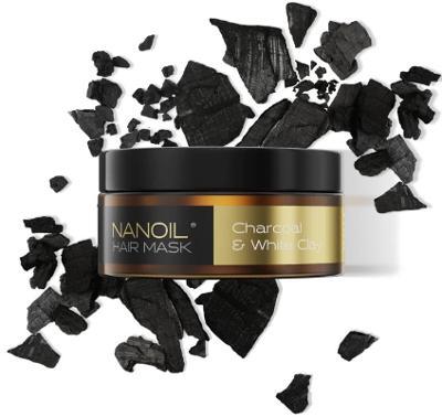 Nanoil Charcoal & White Clay Hair Mask - Vlasová maska, 300 ml