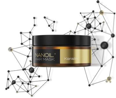 Nanoil Keratin Hair Mask - Vlasová maska 300 ml, Obnova, Posílení