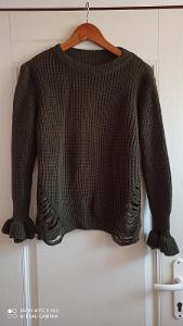 Khaki svetr