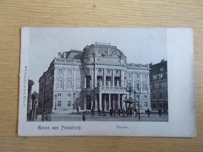 Slovensko Bratislava Pressburg divadlo