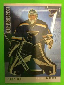 2002-03 In the Game Be A Player Between the Pipes #75 Curtis Sanford