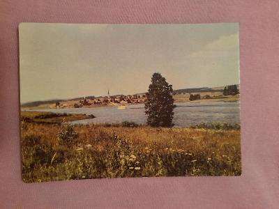 Pohlednice Lipenské jezero,neprošlé poštou