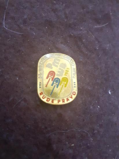 Odznak 38.ročník mezinárodního Závodu Míru 1985 - Faleristika