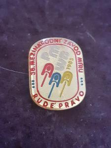Odznak 38.ročník mezinárodního Závodu Míru 1985