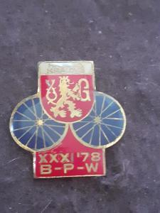 Odznak Závod Míru BPW 1978 Hradec Králové
