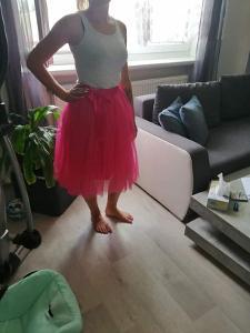 NOVÁ TUTU sukně pestře růžová