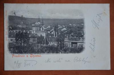 CHOCEŇ okr. Ústí nad Orlicí - pohlednice MF Rakousko-Uhersko DA 1900