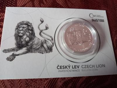 Český lev  - 2019 B.K  číslovaní obal- číslo 445