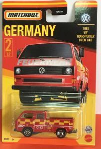 1990 VW Transporter bez nákladu, Matchbox Stars of Germany 2/12(MB3-4)