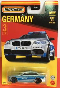 BMW M5 Police - Matchbox 2021 Stars of Germany 3/12 (MB3-6)