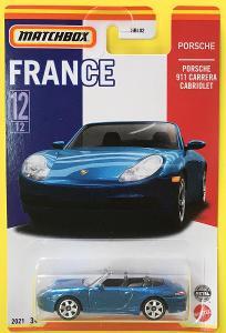 Porsche 911 Carrera Cabriolet -Matchbox Stars of France 12/12 (MB3-12)
