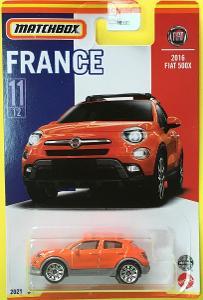 2016 Fiat 500X - Matchbox 2021 Stars of France 11/12 (MB3-13)