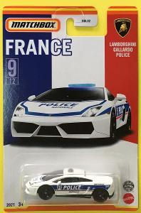 Lamborghini Gallardo Police - Matchbox Stars of France 9/12 (MB3-15)