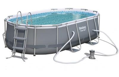 Bazén s konstruk s oválným půdorysem 427 x 250 x100cm schůdky filtrace
