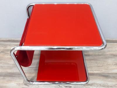 Noční stolek, sklo/ kov (22536B)