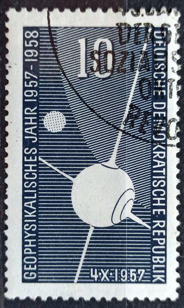 DDR: MiNr.603 Sputnik I 10pf, International Geophysical Year 1957