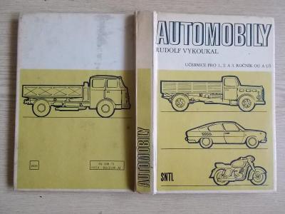 Kniha učebnice Automobily Vykoukal  Tatra Škoda Trabant motory schéma